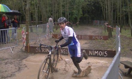Jérôme au Cyclo Cross de Nîmes