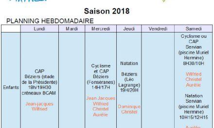 Rentrée école de triathlon 2018
