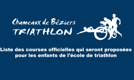 Calendrier des courses officielles – Ecole de triathlon